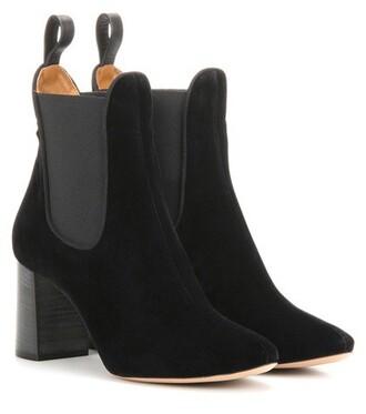 boots chelsea boots velvet black shoes