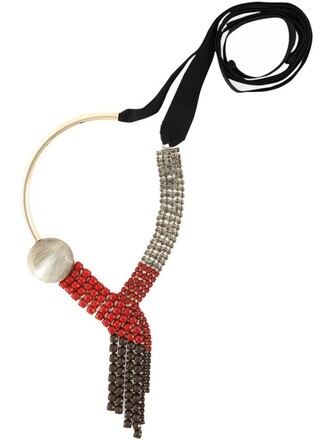embellished necklace red jewels