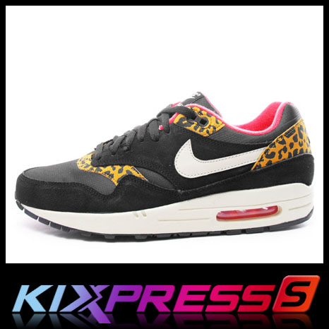 check-out e1acc 8fa82 Nike Wmns Air Max 1 319986 026 NSW Running Leopard Pack Black Gold Pink |  eBay