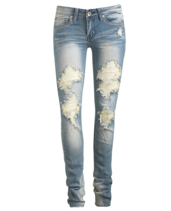 ASOS | ASOS Elgin Supersoft Skinny Jeans in Distressed and Ripped ...