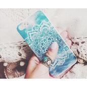 phone cover,iphone cover,iphone,iphone 5 case,iphone case,iphone 5s,blue iphone case,blue iphone 5 case,mandala,sea,beach,summer holidays,scarf