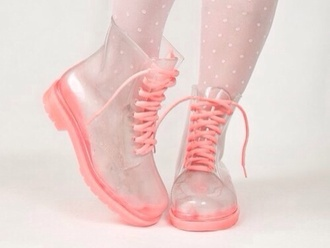 shoes drmartens transparent cute pink boots kawaii grunge pastel goth goth tights