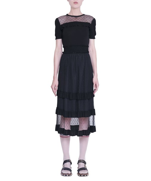 RED VALENTINO dress tulle dress