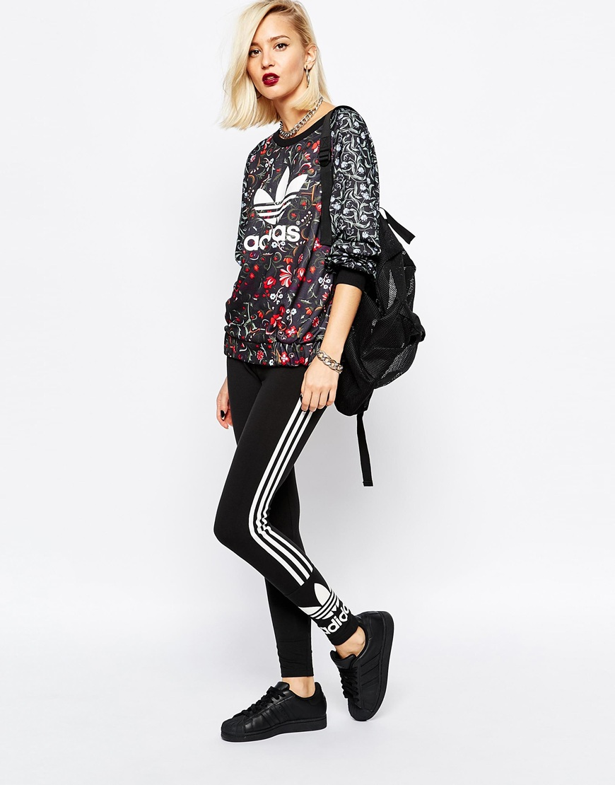 adidas Originals 3 Stripe Leggings at asos.com