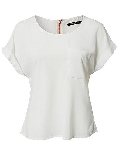Lorrie Back Zip Top - Rut&Circle - Crème - Tops - Vêtements - Femme - Nelly.com La Mode En Ligne Sur Internet