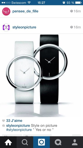 watch mens watch waist belt watches for women black and white