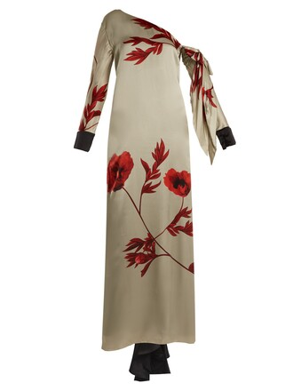 dress silk dress floral print silk