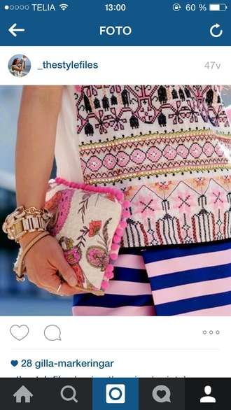 top pretty girl fashion inspo style fashion love lovely stylish blouse summer outfits summer cute perfecto fashionista bag clutch instagram