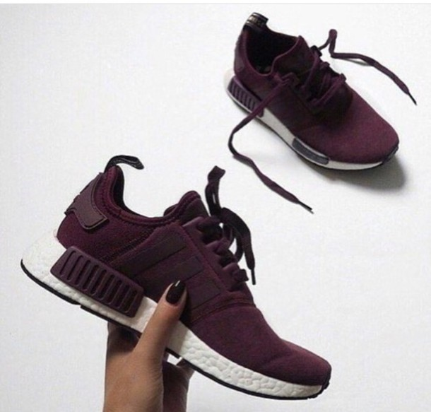 shoes adidas adidas shoes adidas nmd dark red sneakers red wine red wine  white sports shoes. 8388908d4