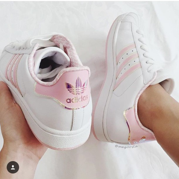 adidas superstar baby pink stripe