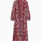 & other stories | floral-print maxi dress | red dark