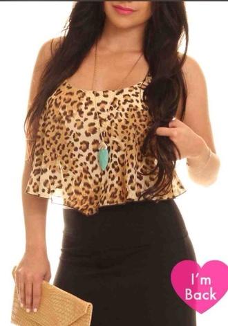 blouse crop tops high wasted shorts leggings leopard print cheetah print clubwear summer dress summer top sexy dress crop