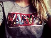 shirt,marvel,iron man,hulk,thor,comics,t-shirt,blouse