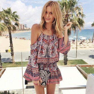 tribal pattern aztec indie hipster festival tropical shirt boho girly party gorgeous short dress amazing orange purple