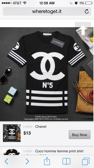 t-shirt shirt blouse chanel