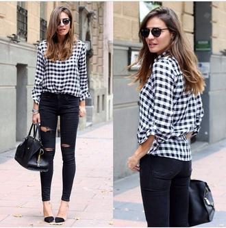 top shirt t-shirt black bag blouse style fashion blogger pants shoes