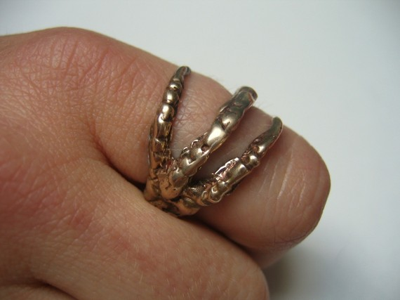Bronze raven claw ring by mrd74 on etsy