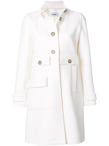 COURRÈGES coat women white wool