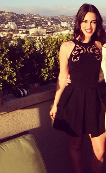 dress party black little jessica lowndes short dress