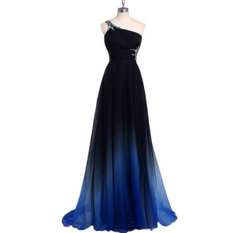 dress blue blue dress ombre dress gown prom dress
