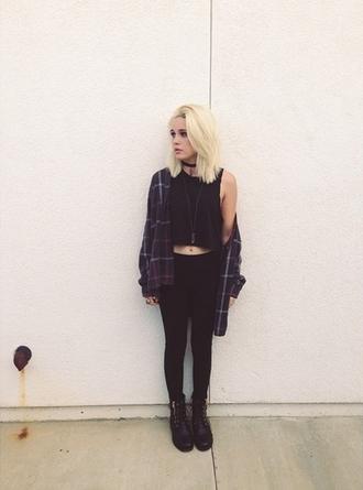 top shoes cardigan leggings grunge flannel beatrice miller jacket blouse tank top black shirt