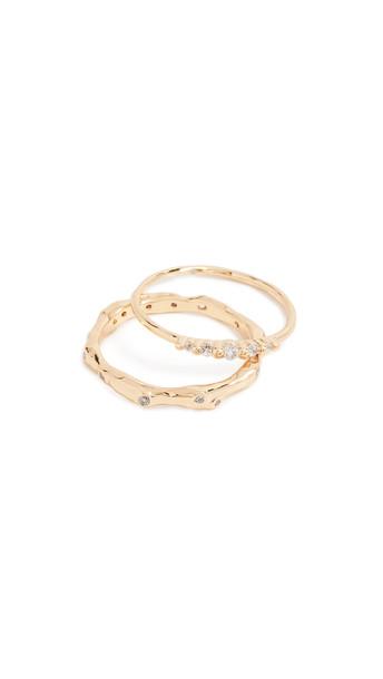 Gorjana Collette Ring Set in gold / white