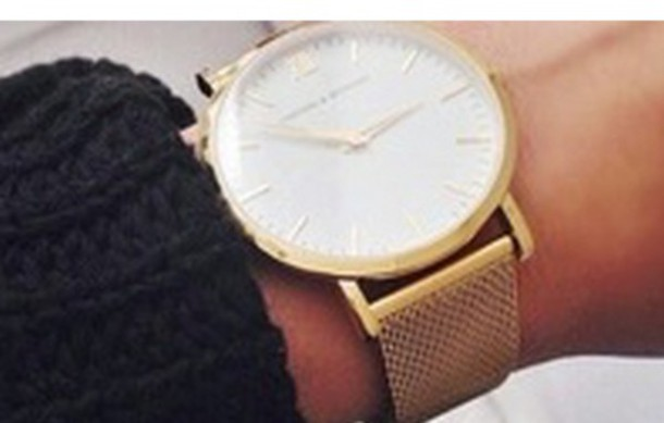 jewels gold watch classy fashion luxury watch women gold white stylish brand watch sweater black larsson and jennings