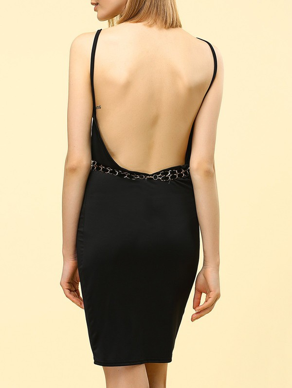 dress black dress open back fashion style trendy hot gamiss