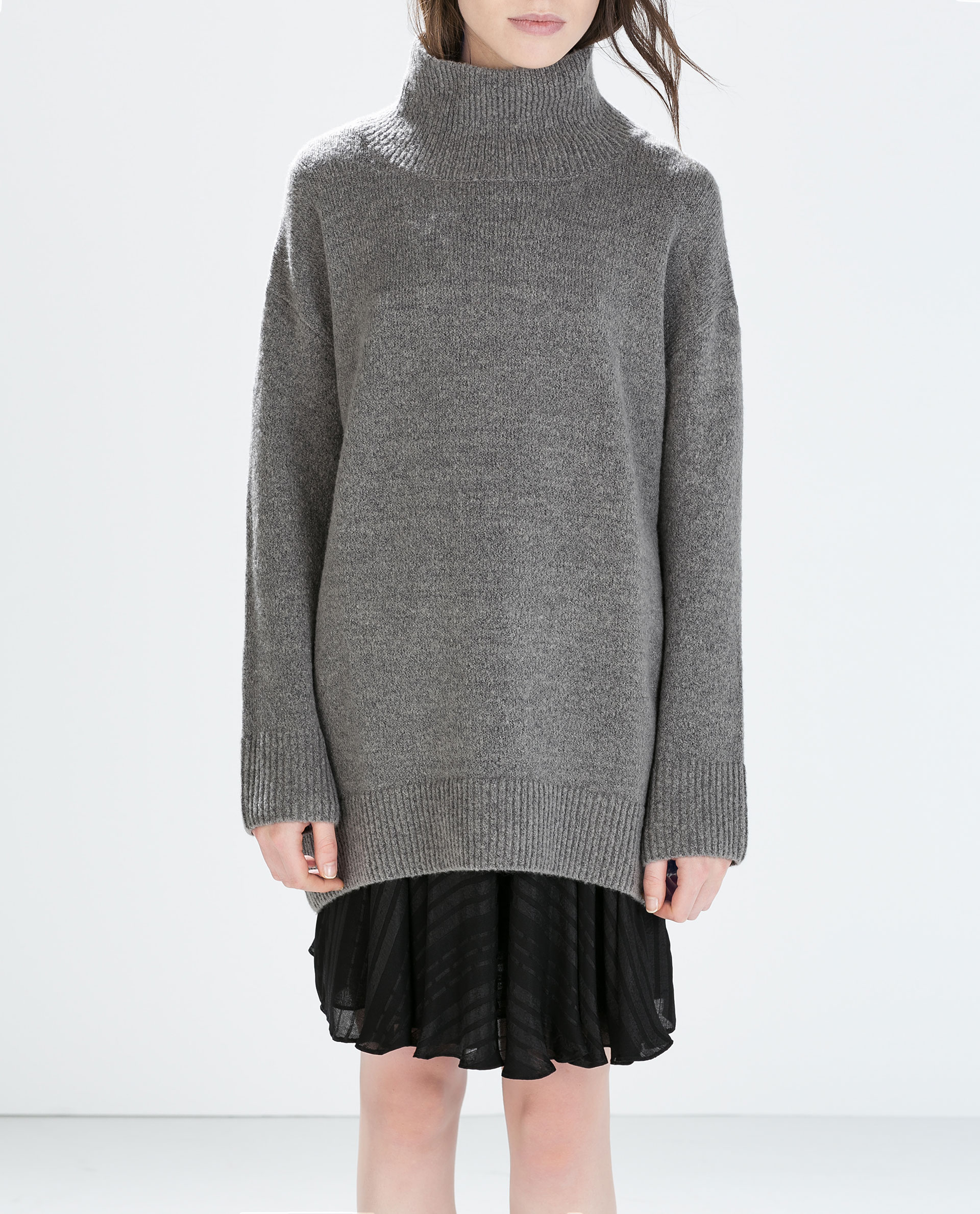4b38d8c9 OVERSIZED POLO NECK SWEATER - Turtleneck - Knitwear - WOMAN | ZARA United  Kingdom