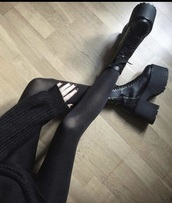 shoes,black,black shoes,black boots,black booties,boots,booties,platform shoes