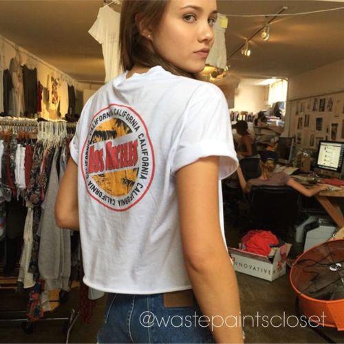 Brandy melville los angeles california graphic t shirt top for Los angeles california shirt