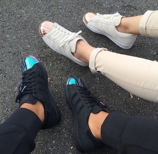 adidas superstar rose gold toe adidas superstar shoes black