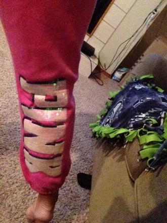 pajamas victoria's secret sweats sequins pink