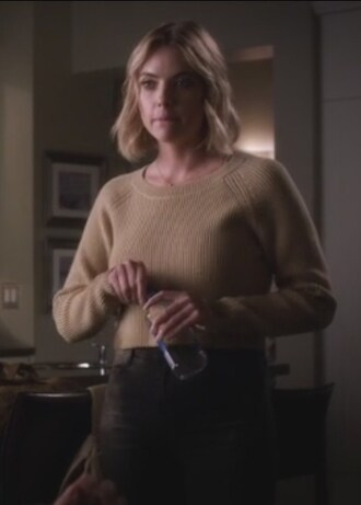 sweater beige pretty little liars hanna marin ashley benson