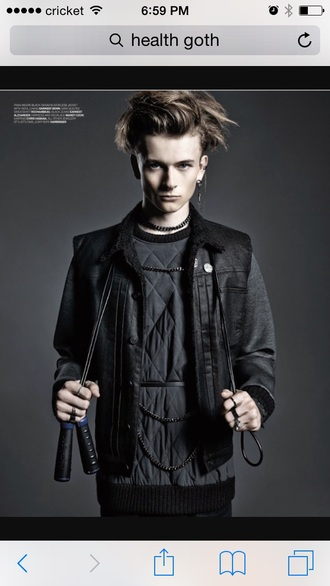 jacket black street goth health goth menswear