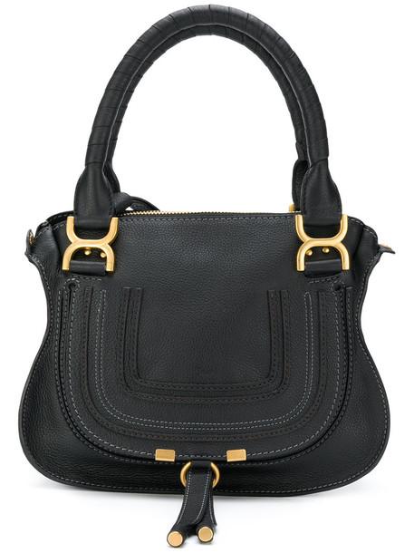 Chloe women bag tote bag leather cotton black
