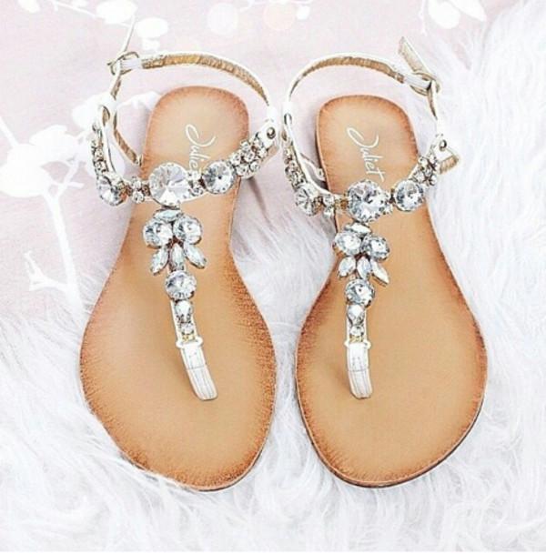 neu damen riemchen sandalen kette zehentrenner strass. Black Bedroom Furniture Sets. Home Design Ideas