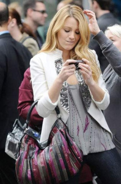 serena blake lively gossip girl white jacket