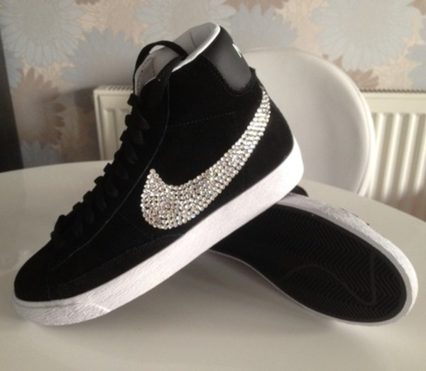 shoes studded blazers nike diamonds