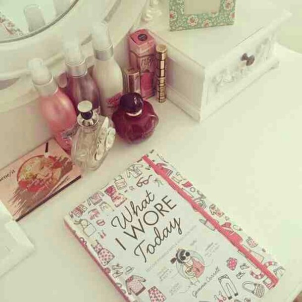 home accessory notebook cute girly perfume
