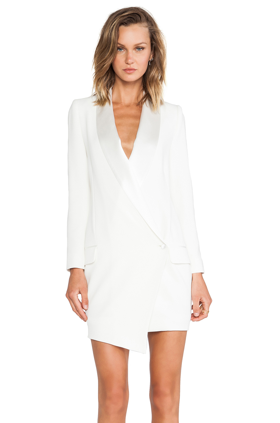 Haute hippie oversized asymmetrical blazer dress in antique ivory from revolveclothing.com