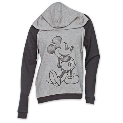 Disney Mickey Mouse Junk Food Womens Sweatshirt Hoodie - Gray (23385)