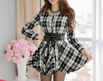 dress plaid cute dress skater skirt rose wholesale stylish vintage cute streetwear fashion