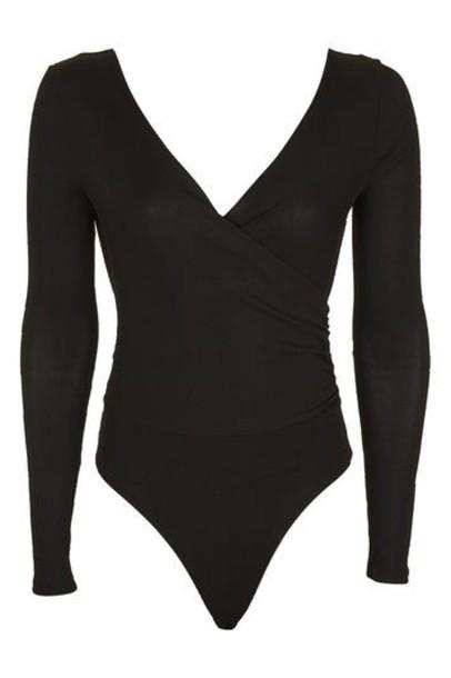 body long black underwear