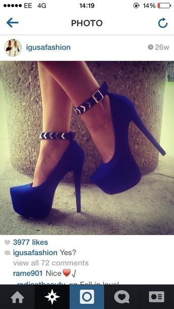 shoes royal blue shoes
