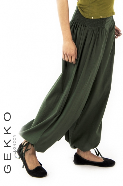 Harem trousers with ankle string