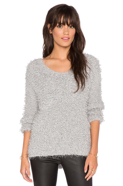 J.O.A. Boucle Knit Sweater in gray