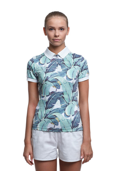 t-shirt print polo shirt polo t-shirt floral polo fusion_clothing fusion plant vintage romper tropical