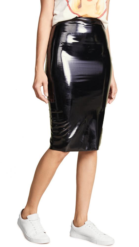 Commando Perfect Patent Midi Skirt in black