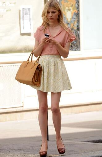 cl clemence poesy pink blouse skirt
